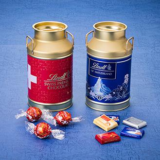 ナポリタンアソート ブルー缶350g リンドール ミルク缶 300g