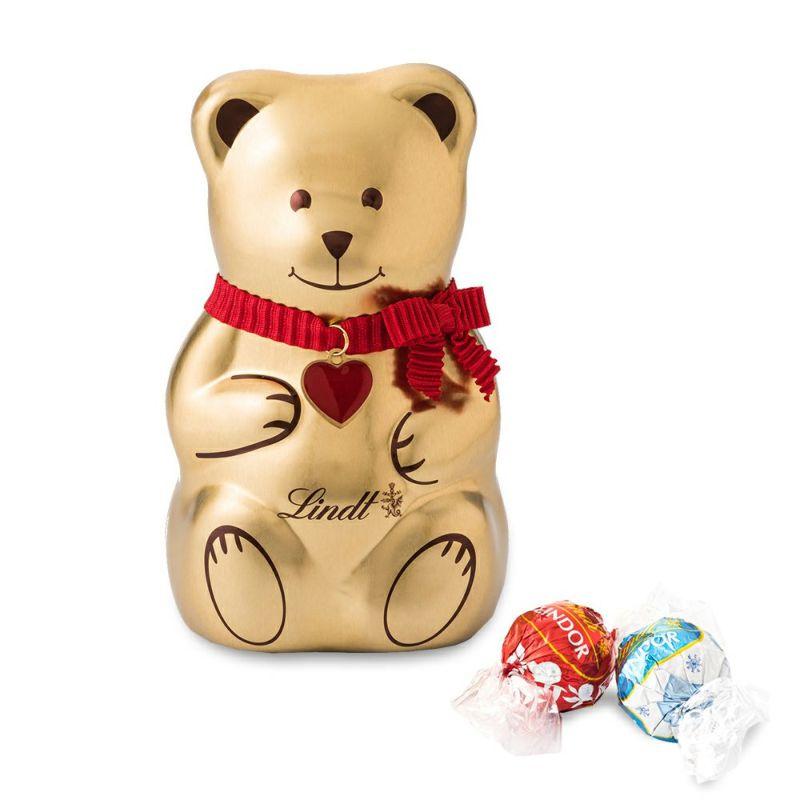 リンツチョコレート(Lindt)クリスマスリンツテディ缶L2018